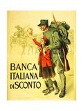 Banca Italiana Di Sconto, 1917 Giclee Print by Enrico della Lionne