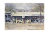 Booth at the Neuilly Fete Giclee Print by Mortimer Ludington Menpes