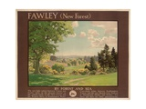Fawley (New Forest), Poster Advertising Southern Railway Giclee Print by Albert George Petherbridge