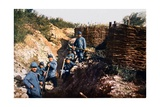 French Soldiers in Front of the Voevre, Battle of Verdun, September 1916 Giclee Print by Jules Gervais-Courtellemont
