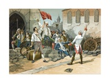 Popular Rebellion in the Paris of the Revolution Giclee Print by  Spanish School