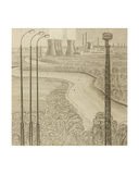 Novovoronezh Nuclear Plant on the Don River, 1960 Giclee Print by Masabikh Akhunov