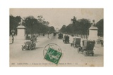 Paris - Avenue des Champs-Elysees. Postcard Sent in 1913 Giclee Print by  French Photographer