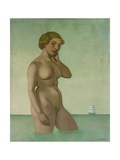 Nude with a Frigate, 1916 Giclee Print by Felix Edouard Vallotton