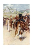 Moffat and the Zulus Giclee Print by Walter Stanley Paget