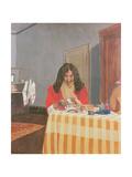 Portrait of Mrs. Vallotton Giclee Print by Felix Edouard Vallotton