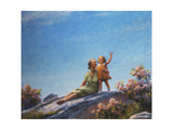 A Happy Moment, 1919 Giclee Print by Charles Courtney Curran