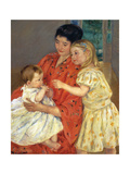 Mother and Sarah with the Baby, 1901 Giclee Print by Mary Cassatt