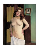 Cabinet Chest (Standing Red-Haired Nude), 1913 Giclee Print by Felix Edouard Vallotton
