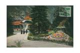 Interlaken, Kursaal Und Blumenuhr. Postcard Sent on 16 August 1913 Giclee Print by  German photographer