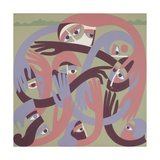 Comforters, 1983 Giclee Print by Ron Waddams
