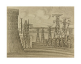 By the Novovoronezh Nuclear Plant, 1966 Giclee Print by Masabikh Akhunov