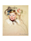 Sarah Looking Left, 1901 Giclee Print by Mary Cassatt