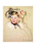 Sarah Looking Left, 1901 Giclee Print by Mary Stevenson Cassatt