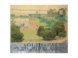 'Southsea on the Silvery Solent', Poster Advertising Southern Railways, 1959 Giclée-Druck von Gregory Brown