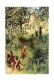 Mauch Discovering the Ruins of Zimbabwe Giclee Print by Walter Stanley Paget