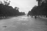 Champs-Elysees Avenue Deserted, Paris, August 1914 Photographic Print by Jacques Moreau