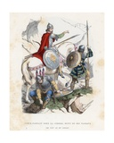 Count Leaving for War, Followed by His Vassals, 8th to 9th Century Giclee Print by  French School