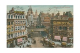 Postcard of Ludgate Circus, London, Sent in 1913 Giclee Print by  English Photographer