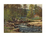 Springtime on the Wyre, Dolphinholme, 1906 Giclee Print by Reginald Aspinwall