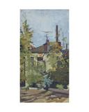 Backyard in Moscow - Perunovski Pereulok, 1966 Giclee Print by Galina Konstantinovna Shubina