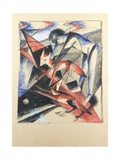 Noah and the Fox, 1913 Giclee Print by Franz Marc