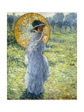 Woman with a Parasol, c.1906 Giclee Print by Frederick Carl Frieseke