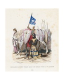 Knight Praying before Leaving for the Second Crusade, 1146 Giclee Print by  French School