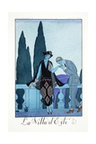 Villa d'Este, from 'Falbalas and Fanfreluches, Almanach des Modes Présentes Giclee Print by Georges Barbier