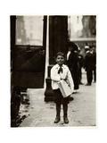 Dominick Carroll, Newsboy, Philadelphia, Pennsylvania, c.1910 Giclee Print by Lewis Wickes Hine
