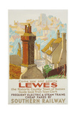 Lewes, Poster Advertising Southern Railway Wydruk giclee autor Gregory Brown