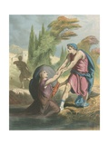 Help Rescues Christian from the Slough of Despond Giclee Print by H. Castelli