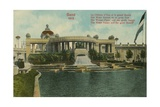 The Water Palace and the Great Basin, Ghent, 1913. Postcard Sent in 1913 Giclee Print by  Belgian Photographer