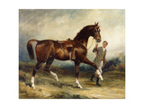 Horse and Groom in a Landscape, 1903 Giclee Print by James Lynwood Palmer