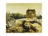 The Little Brown House, Passy, c.1928 Giclee Print by Christopher Wood