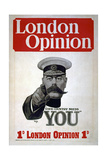 """Your Country Needs You"", Poster for the London Opinion, 1914 Giclee Print by Alfred Leete"