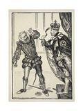 The Ungartered Blackleg ('Honi Soit …'), Illustration from the Kaiser's Garland by Edmund J.… Giclee Print by Edmund Joseph Sullivan