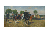 Reconnaissance of a Cavalry Regiment by William I, 1902 Giclee Print by Carl Rochling