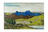 Langdale Pikes, 1917 Giclee Print by Charles Holmes