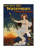 Carry the 'Ideal' Waterman Pen - the Weapon of Peace, 1919 Giclee Print by Eugene Oge