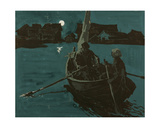 Night in Karelia, 1961 Giclee Print by Vadim Petrovich Volikov