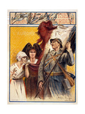 """Subscribe to the Liberation Loan"", 1918 Giclee Print by Henri Royer"