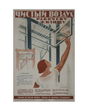 Clean Air to the Working Home!, 1933 Giclee Print by Galina Konstantinovna Shubina