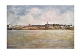 Factories on the Seine Giclee Print by Mortimer Ludington Menpes