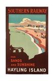 Hayling Island, Poster Advertising Southern Railway, 1923 Giclee Print by Margaret Macdonald Mackintosh