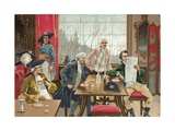 Cafe in Paris During the Time of the French Revolution Giclee Print by  Spanish School
