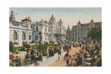 Terrace of the Cafe de Paris, Place Du Casino, Monte Carlo. Postcard Sent in 1913 Giclee Print by French Photographer