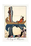 Along the Missouri, from 'Falbalas and Fanfreluches, Almanach des Modes Présentes, Passées et… Giclee Print by Georges Barbier