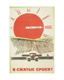 Let Us Prepare the Sowing Campaign Faster Than the Plan !, 1969 Giclee Print by Vadim Petrovich Volikov