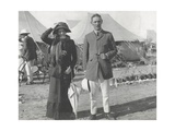 Captain and Lady Helen Mitford in the Tented City, Delhi, December 1911 Photographic Print by  English Photographer